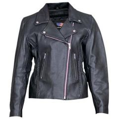 AL2130-Womens Motorcycle Jacket