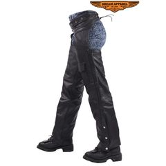 Braided Cowhide Leather Chaps