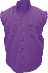Mens Purple Sleeveless Shirt