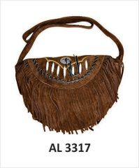 Ladies Dark Brown Suede purse