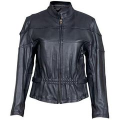 AL2140-Womens Vented Leather Motorcycle Jacket