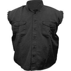 AL2901-Men's Black Denim Sleeveless Shirt