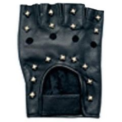 AL3005-Leather Studded Fingerless Gloves