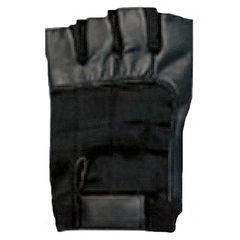 AL3002-Fingerless Black Leather Gloves
