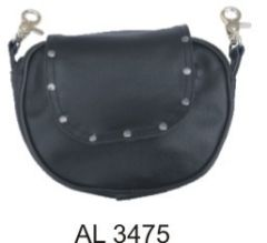 Ladies studded belt loop purse