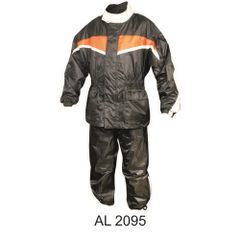 Mens Orange and Black Rain suit