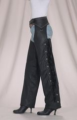 Women Chaps with Stud, Beaded Fringe and Fashion Strap