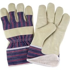 SAP295 Grain Pigskin Fitters Cotton Fleece Lined Gloves, Large ZENITH (X-LR)