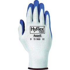 SAW979 Hyflex® NITRILE PALM, KNIT BACK NYLON - Oil & Abrasion Resistant #11-900 Gloves, (Sz's 6-10) ANSELL