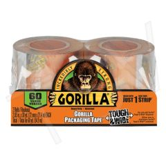"PF814 Gorilla Packaging REFILLABLE Tape CLEAR Hand Adhesive: Acrylic Width: 72 mm (3"") Length: 27 m (90') GORILLA #6130402 2 ROLL/PACK"