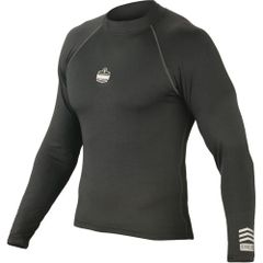 SEC962 Sleeved Long Thermal Base Layer Stretch fabrics ANTI-STINK Black (Sz's M - 3XL) ERGODYNE