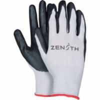 SBA837 Nitrile Foam Palm Coated Gloves, Black Lightweight (SZ 6-11) ZENITH