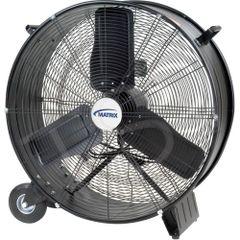 "EA286 ***LIMITED QUAUNTITY*** Light Industrial Direct Drive Drum Fan Dia.28"" Speeds: 2 MATRIX 2.5HP"
