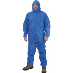 SEK363 Coveralls 3-LAYER polypropylene SMS Elastic wrist/ankle/ hood Royal Blue (Sz's M-5XL)