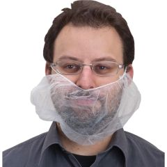 SEC383 BEARD NETS, NOW-WOVEN POLYPRO ELASTIC BAND 100/BG