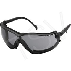 SFQ537 V2G ® Sealed Safety Eyewear Glasses CSA Z94.3/ANSI Z87+ Lens Tint: Grey/Smoke Anti-Fog/Anti-Scratch PYRAMEX #GB1820ST (Headband Included)