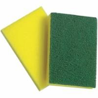 NI844 SPONGE & SCRUB PAD 4x6 YELLOW & GREEN 10 per PACK
