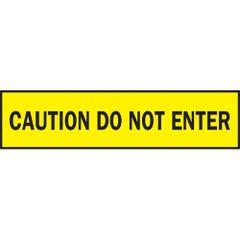 "SAD258 Barricade Tape ""Do Not Enter"" ENGLISH 3"" x 1000' BLACK ON YELLOW"