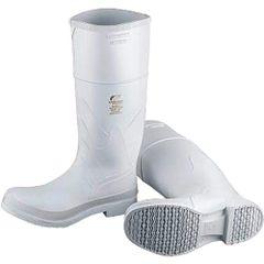 SC573 White PVC Steel Toe Boots Reinforced Steel Shank (SZ 6-13) ONGUARD #81012