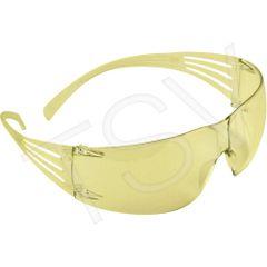 SEK246 3M SecureFit Protective Eyewear Safety Glasses Molded Nose Bridge CSA Z94.3/Ansi Z87 AMBER AF Lens Anti-Fog #SF203AF-CA