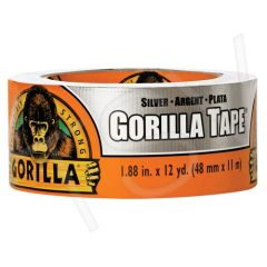 "AF416 Gorilla Duct Tape Width: 48 mm (1-7/8"") Length: 13.72 m (36') Thickness: 17 mils SILVER GORILLA #6071202"