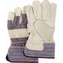 SAO052 Grain Cowhide Fitters STANDARD Quality Gloves, Large, Cotton-Lined Palm LARGE