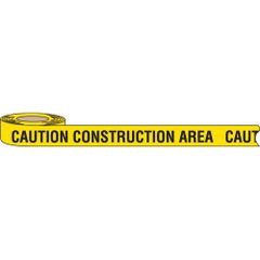 "SAB538 BARRICADE TAPE ""Caution Construction Area"" 3""x1000' ENGLISH Black on Yellow"