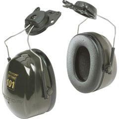 SC167 3M CAP-MOUNT PeltorTM NRRdB 24 OptimeTM 101 Series Earmuffs #H7P3E DARK GREEN