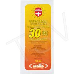 JD319 SPF 30 Sunscreen Individual Use Pouches Lotion 10 ml SHIELD 50/BOX