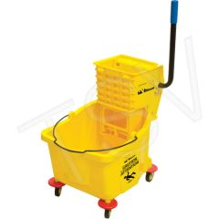 JG811 Mop Bucket Wringer Yellow Wringer Type: Side Press Bucket Capacity: 9.5 US Gal.(38 Quart) RMP