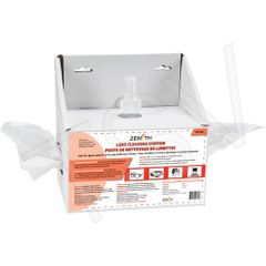 "SEE380 Disposable Lens Cleaning Station 8oz (237ml) Bottle 600 Tissue : 8""Lx4""Dx8""H ZENITH"