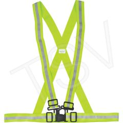 SEF117 Traffic Harnesses High Visibility Lime-Yellow Reflective Silver CSA Z96 Class 1 (MED-3XL) ZENITH