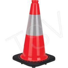 "SEB770 Premium Traffic Cones 18""H Colour: Orange Reflective Collars: 6"" 3M High Intense *QC, *ON, *AB ZENITH"