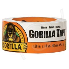 "AF418 Gorilla Duct Tape Width: 48 mm (1-7/8"") Length: 9.14 m (30') Thickness: 17 mils WHITE GORILLA #6010002"