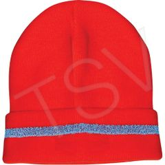 SDP616 TOQUES High Visibility Orange KNITTED W/SILVER STRIPE