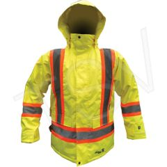 SDP418 Winter Parkas JACKET HIGH VISIBILITY Lime REFLECTIVE ORANGE/SILVER STRIPE CSA CLASS 2 (SML-3XL) VIKING