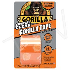 "AF419 Gorilla Repair Tape Width: 38 mm (1-1/2"") Length: 4.57 m (15') CLEAR GORILLA #6015002"