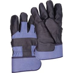 SEA198 Cotton Fleece Grain Cowhide Furniture Leather Gloves, Large ZENITH