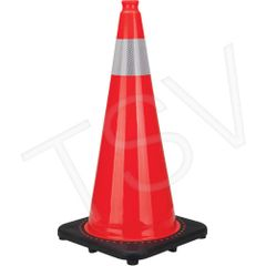 "SEB826 Premium Traffic Cones 28""H Colour: Orange Reflective Collars: 4"" 3M High Intense *ON *AB ZENITH"