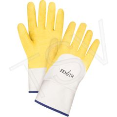 SAN435 Natural Rubber Latex Palm Coated Crinkle Finish 100% Cotton Lining Sz 10 Only ZENITH