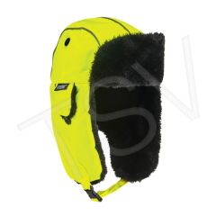 SGH674 N-Ferno 6802 Classic Trapper Hat Outer Material: Nylon Lining Material: Synthetic Fur Colour: High Visibility Lime-Green ERGODYNE #16853
