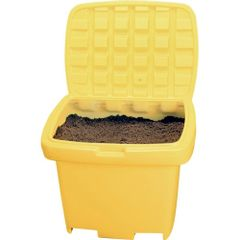 "ND337 On-Site 55 SALT or SAND Containers 30W"" x 24H"" 500LB Capacity (Yellow or Grey)"