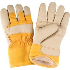 SAP290 Grain Furniture Leather Fitters Acrylic Boa Lined Gloves, Large ZENITH (XL-2XL)
