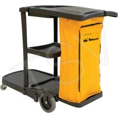 "JG813 Multi-Functional Cart Length: 31"" Width: 20"" Height: 38"" Colour: Black YELLOW BAG RMP"