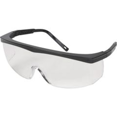 SEH642 SAFETY GLASSES #1051S Clear Lens Black Frame #Z100 Traditional Sidesheild