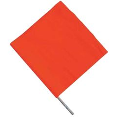 "SAP711 Traffic SAFETY FLAG WITH 24"" OR 36"" WOODEN STAFF Vinyl CCI"