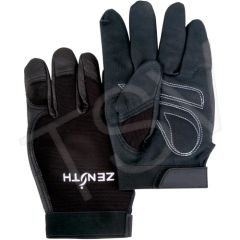 SEB228 Mechanic Gloves Grain Leather Palm Dexterity Grip #ZM300 ZENITH (SZ's MED - 2XLR)