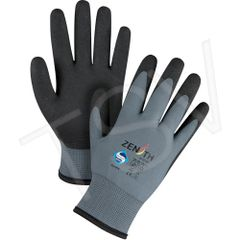 SFQ726 Premium Foam PVC Palm Coated Acrylic Lined Gloves ZX-30° (8) Gauge: 15 Liner: Nylon Coating: PVC ZENITH (MED-2XL)