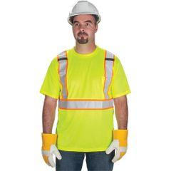 SEF109 CSA Compliant T-Shirts •Fluorescent lime-green 100% polyester (MED-XXL) ZENITH