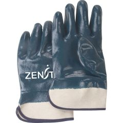 SAN445 Heavyweight Nitrile Fully Coated Safety Cuff 100% COTTON LINING (Sz's 10-11) ZENITH